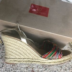47b343518fb Cole Haan sz 10 sandals espadrilles summer wedges